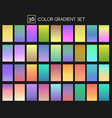 colored gradient set vector image vector image