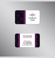 creative business card with modern dark ornament vector image vector image