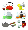 cups and kettles for different vector image
