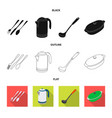 design of kitchen and cook symbol vector image vector image