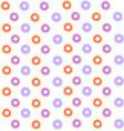 donuts wallpaper on white background vector image vector image