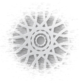 Elegant paper retro floral wreath Hand drawn vector image vector image