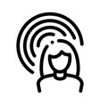 female hearing icon outline vector image vector image