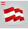 Flat and waving Austrian Flag vector image vector image