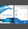 flyer template in blue tech style vector image