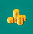 golden coins increase vector image vector image