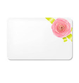 Green Bow With Rose And Blank Gift Tags vector image