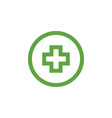 green medical cross graphic design template vector image vector image