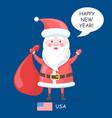 happy new year santa claus vector image vector image