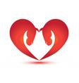 heart and love abstract horse figures vector image