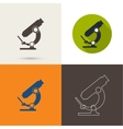 icons with a microscope vector image