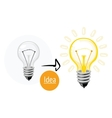 Idea concept with lightbulb vector image vector image