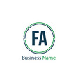 initial letter fa logo template design vector image vector image
