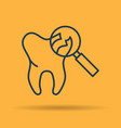 isolated icon of treatment of affected tooth vector image vector image