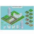 Isometric map creator elements for city building