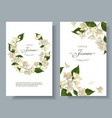 jasmine flowers banners vector image vector image