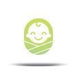 logo design bacheerful joyful kid vector image vector image