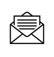 mail icons letter in envelope mail delivery symbol vector image