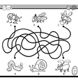 maze game coloring page vector image vector image