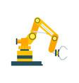 modern robotic conveyor equipment element vector image