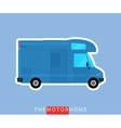 Motorhome vehicle isolated vector image vector image
