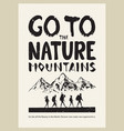 mountains poster vector image vector image