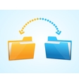 Moving documents between two folders vector image