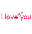 pixel i love you text detailed isolated vector image vector image