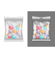 realistic candy package set vector image vector image