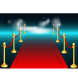 red carpet and light vector image vector image