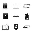 reference point icons set simple style vector image vector image