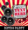 retro Dj party vector image vector image