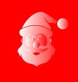 santa claus in red and white vector image vector image