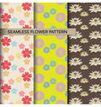 seamless colorful flower pattern set vector image vector image