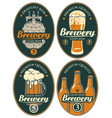 set labels or banners for beer and brewery vector image