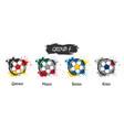 set national football team group f vector image vector image