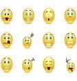 Set unhealthy funny smiles vector image vector image