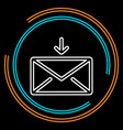 simple envelope mail thin line icon vector image