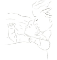 Sleeping mother and baby icon vector image vector image