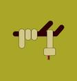 snake logo design on background snake sign vector image vector image