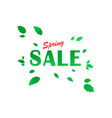 spring sale background banner with beautiful vector image