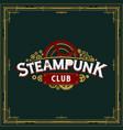 steampunk club insignia design victorian era vector image vector image