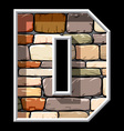 stone letter D vector image vector image