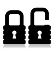 strong padlock silhouette vector image vector image