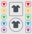 T-shirt Clothes icon sign symbol on the Round and vector image