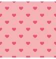 Tile pastel pattern with hearts on pink background vector image