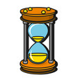 time sand glass cartoon vector image vector image