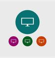 tv icon simple vector image vector image