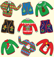 ugly christmas sweaters vector image vector image