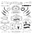 Vintage Bakery Labels elementsHand sketched vector image vector image